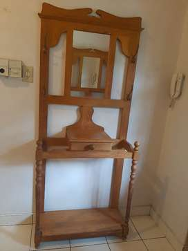 Entrance Hall Solid Oak Coat and Hat Stand