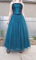 американское изумрудное пышное выпускное платье пачка с фатином