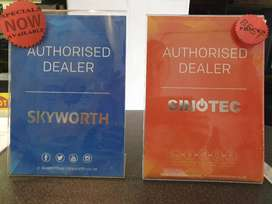 SKYWORTH, SINOTEC ANDROID TVS FOR SALE