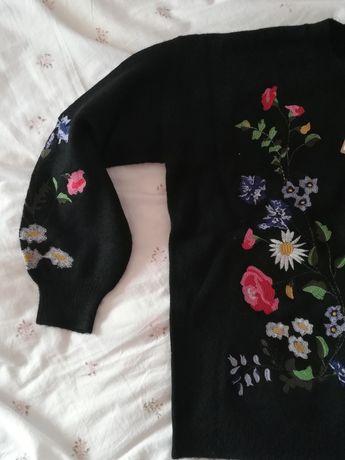 Sprzedam czarny haftowany sweter MEDICINE Węgrów - image 2