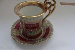 Королевская Венская мануфактура,19в фарфор кофейная пара