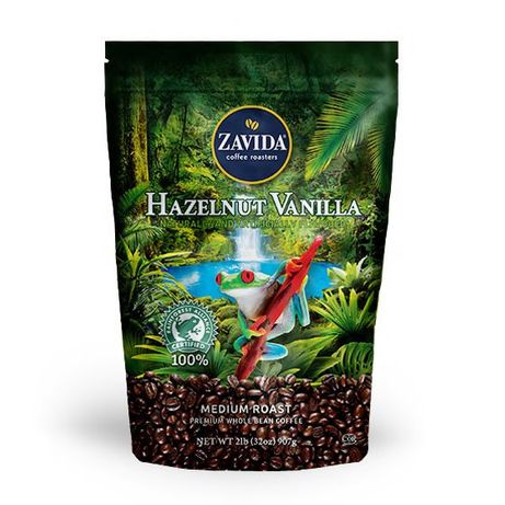 Кофе Zavida Hazelnut Vanilla 100% Rainforest