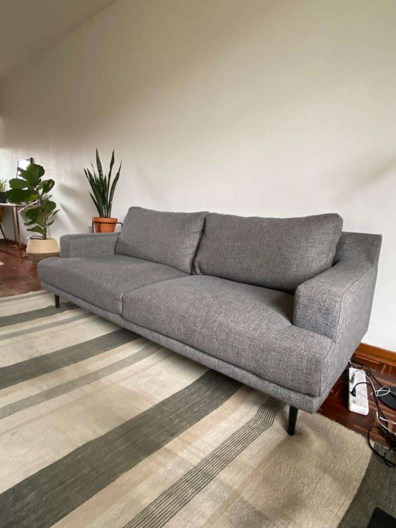 three seater grey couch from @home 0