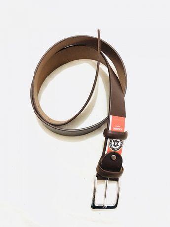 Ремень кожаный мужской Andro темно-коричневый. Киев - изображение 3