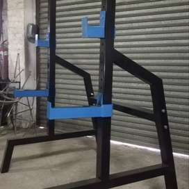 Heavy duty squat Racks 60x2mm square tube with free spotter arms