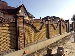 Муруваня парканів з цегли