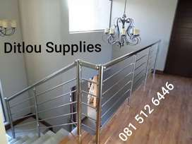 Supply and installation of modern and industrial  balustrades