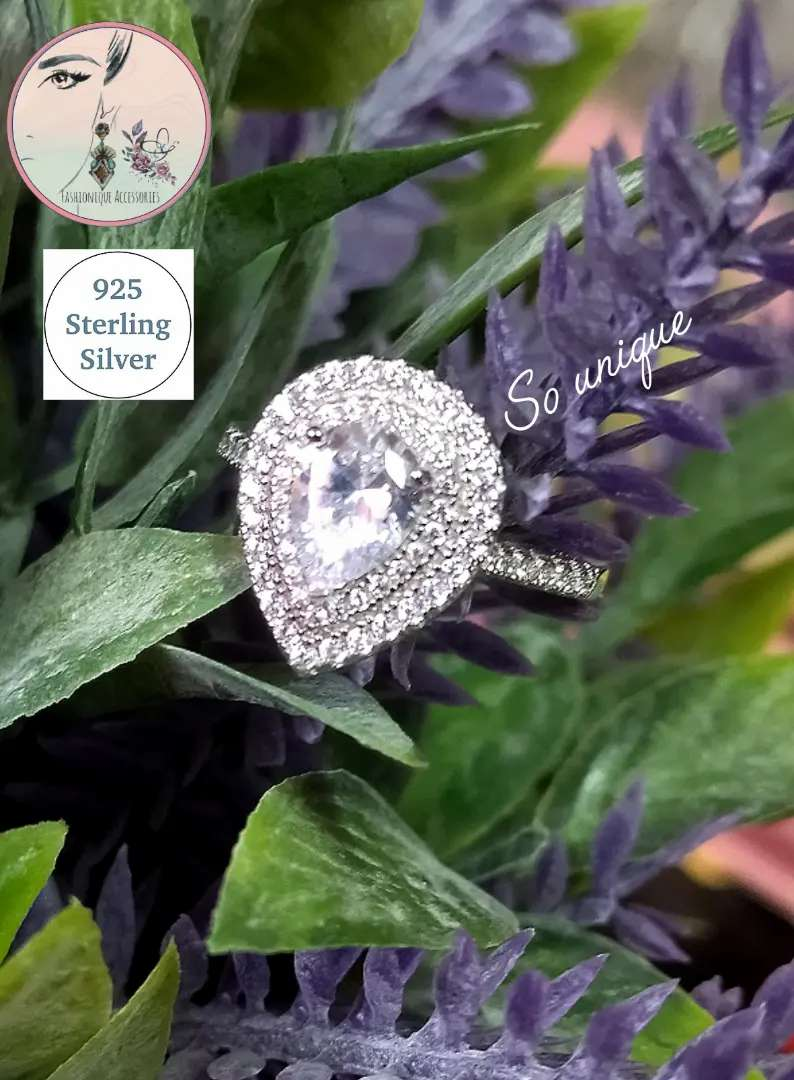 925 Solid silver engagement ring