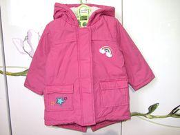 Парка демисезонная деми куртка курточка с нашивками 9-12 мес 1 год 74