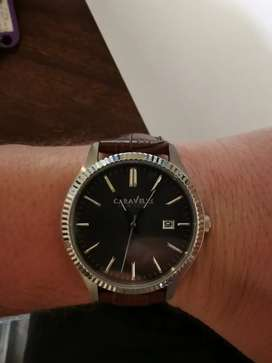 Caravelle (Made by Bulova) leather men's watch