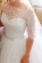 Красивое свадебное платье размер 42-46