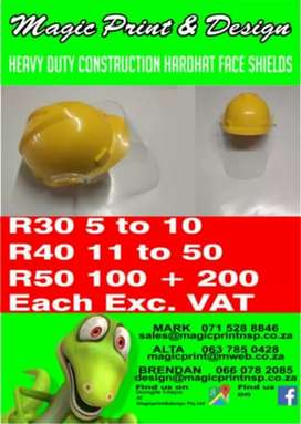 Heavy Duty Construction Hardhat face Shields