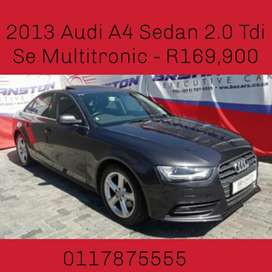 2013 Audi A4 Sedan 2.0 Tdi Se Multitronic - R169,900