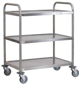 3 TIER CART STAINLESS STEEL