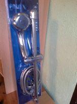 Zestaw prysznicowy 60 cm , słuchawka 5 funk , drążek, wąż, mydelniczka