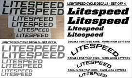 LITESPEED bicycle frame and rim decals stickers graphics