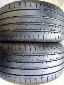 2 X 255/40/17 Continental SSR Runflats tyres with 95% thread life left