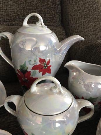 Очень красивый перламутровый чайный сервиз Днепр - изображение 5