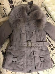Зимняя куртка с мехом песцом
