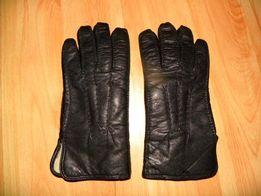 Rękawiczki ze skóry, czarne, r.7