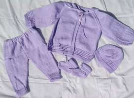 Brand New Knitted Baby Jersey Set