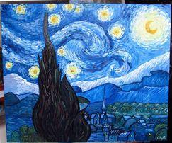 """Картина свободная копия - Ван Гог """"Звездная ночь"""", масло, холст 50х60"""