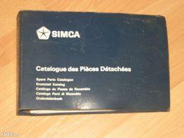 Simca 1000 - oryginalny katalog części