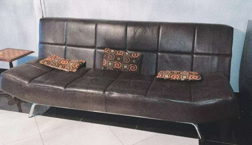 Genuine leather couches 3 pieces 0