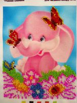 Картина вышитая бисером в детскую, вышивка