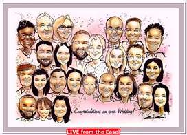3 minute Caricature Sketches at Events and Weddings-Live Entertainment