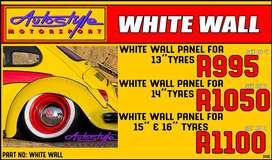 White Wall Port-a-Wall Panels for 13 Tyres R995 White Wall Port-a-Wall