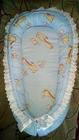 Гнездышко-позиционер и одеялко-конверт для новорожденных