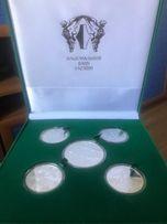 Набор серебряных монет Евро 2012
