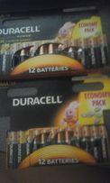 Duracell продам батарейки на АА и ААА по 12шт в упаковке