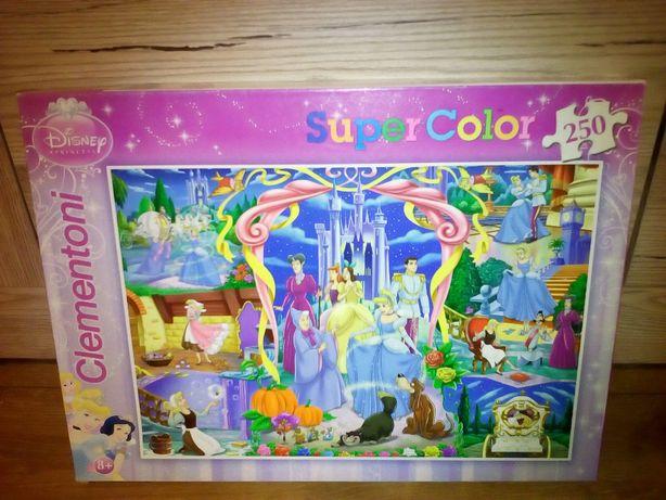 PUZZLE Supercolor KOPCIUSZEK Disney Princess 250 el. CLEMENTONI Otwock - image 2