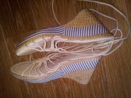 Sandały na koturnie River Island roz. 40 styl marynistyczny