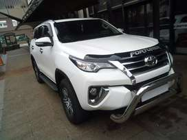 Toyota Fortuner 2017 model white in color 56000kms