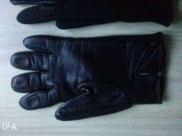 rękawice skórzane męskie ocieplane r. 9,5