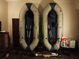 3-meter boats: Intex Mariner inflatable boats. Please read the advert!