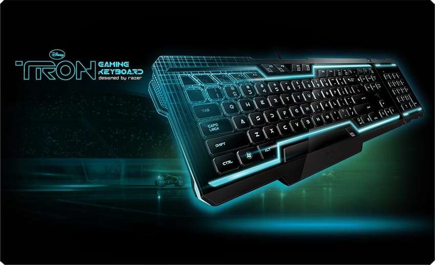 Tron (razor) gaming keyboard, mouse and pad 0