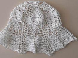 Вязанная женская шапка ручной работы (раз. 57)
