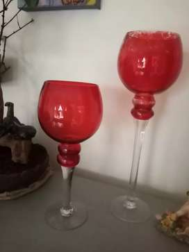 Red Wine Glass Shaped Vase for Sale