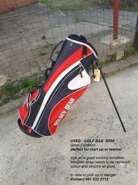 Used golf bag (golden bear)