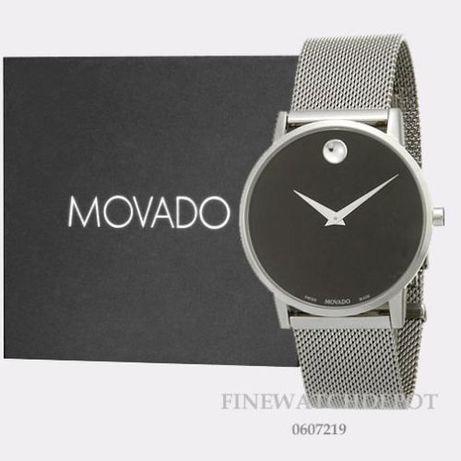Часы Movado Mesh Museum Black Dial Stainless Steel модель 0607219 Харьков - изображение 1
