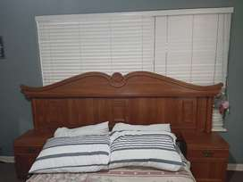 Headboard and dressing table