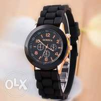 classic style simple casual Silicon strap wristwatches different colo 0