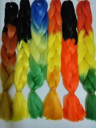 Разноцветные косички Канекалон на подарок, каникалон дреды