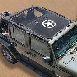 Full Size Sun Shade Net with Star Logo for 4-door