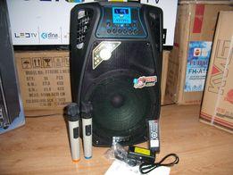 Blueooth Колонка чемодан TEMEISHENG12 с МР3 micro SD,USB,FM+2 радио ми