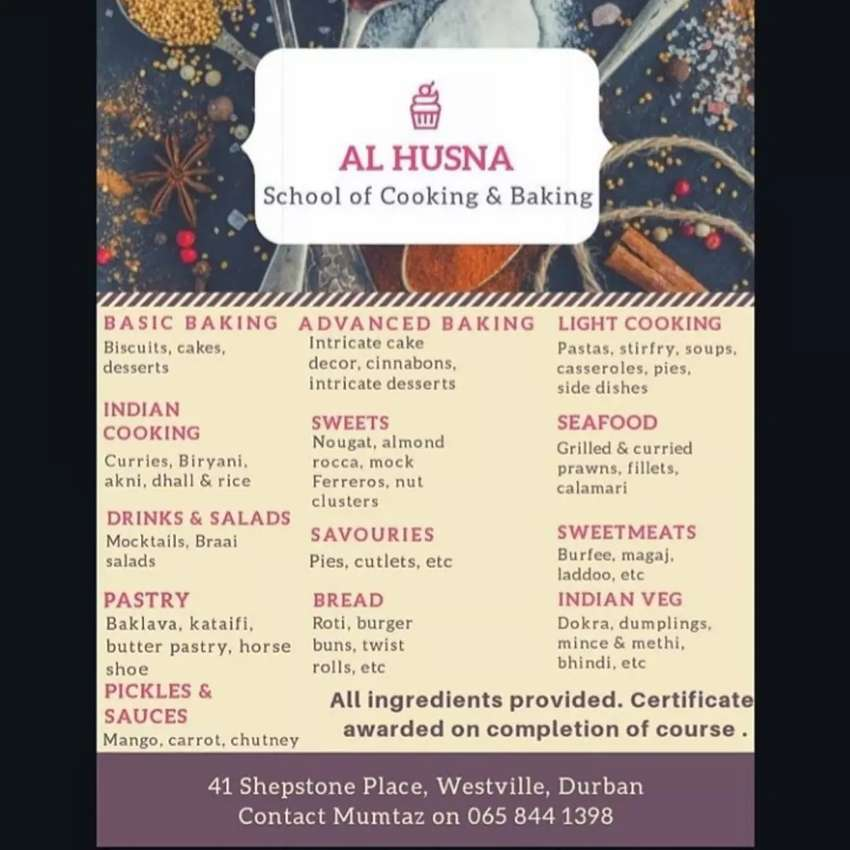 Al husna cooking and baking classes 0